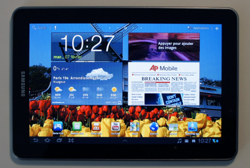 Galaxy Tab 7.7 les numériques