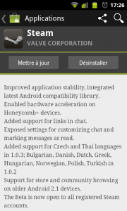 Steam App 1.03 Android