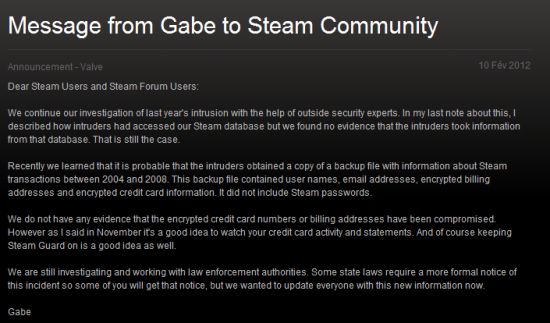 Steam message Nawell