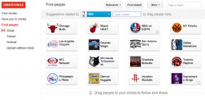 google+- cercles