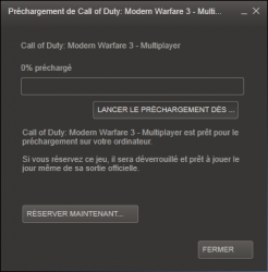 Steam CoD MW3 gratuit week-end