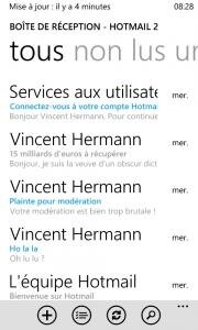 hotmail live windows phone