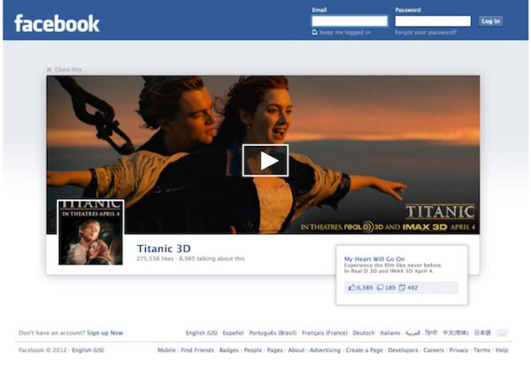 facebook publicité déconnexion