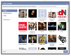 Liste interet facebook