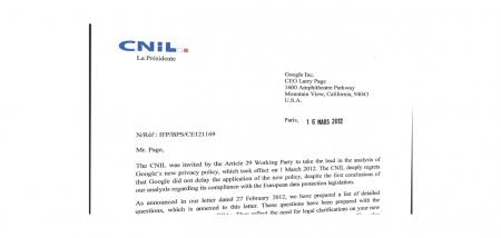 cnil lettre google