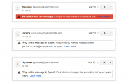 gmail spams explications