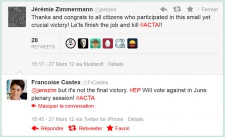 ACTA parlement européenne commission INTA