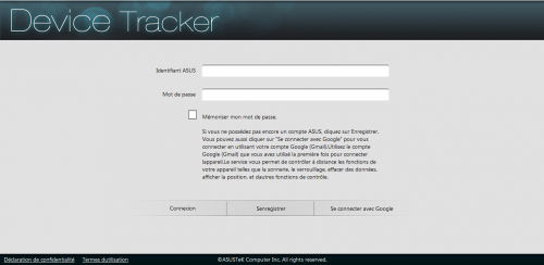 Asus Device Tracker