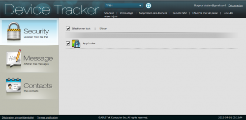 Asus Device tracker app locker