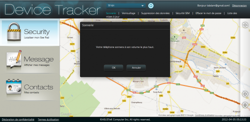 asus device tracker sonnerie