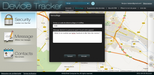 Asus device tracker blocage