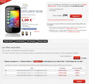 Virgin mobile forfait ultimate htc explorer wave y
