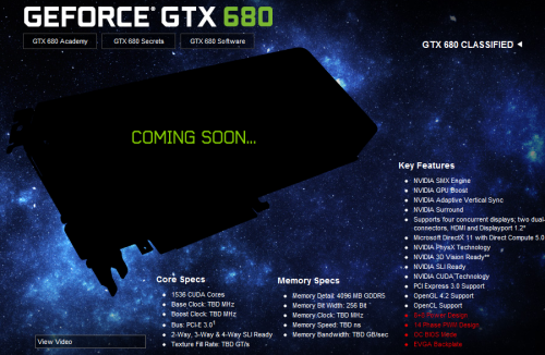 EVGA GTX 680 classified