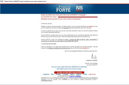 Nicolas Sarkozy prospection français CNIL