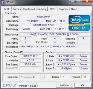ASUS K75VM CPU Z