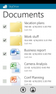 SkyDrive application iOS Windows Phone