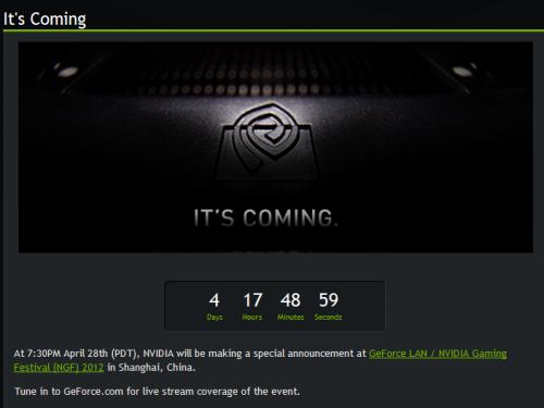 NVIDIA Coming Teasing 12 04 29