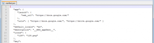 Google Docs Drive Manifeste
