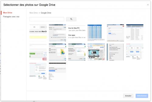 Google Drive Plus Partage