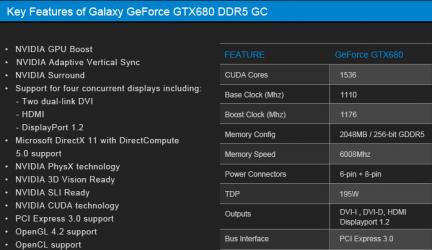 Galaxy GTX 680 GC