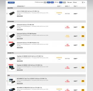 GeForce GTX 680 stocks