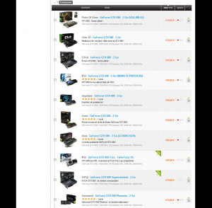 GeForce GTX 680 stocks