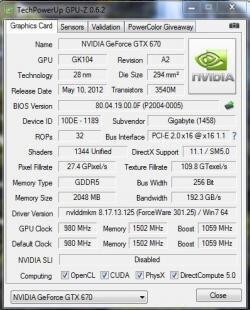 Gigabyte GTX 670 Leak Overclock.net