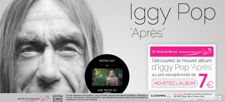iggy pop vente privee