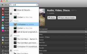 Spotify application Windows OS X 0.8.3