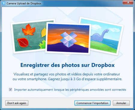 dropbox upload automatique windows os X