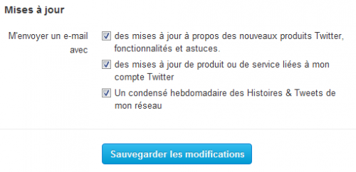 Twitter condensé mail hebdomadaire