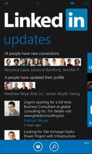 linkedin windows phone 7.5