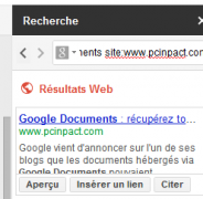 Google Documents lien