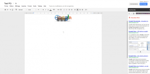 Google Documents recherche