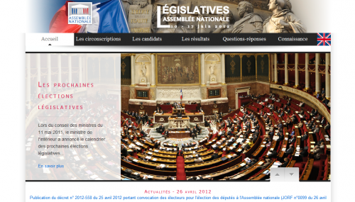 Legislatives 2012 Site officiel