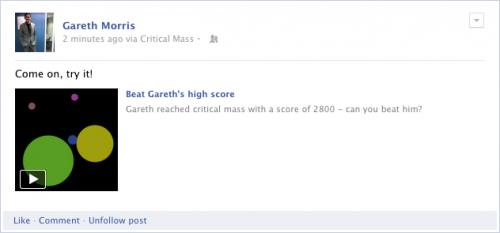 facebook jeu flux