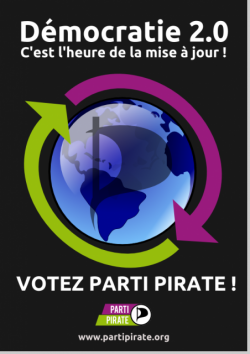 Affiche Parti Pirate Election 2012
