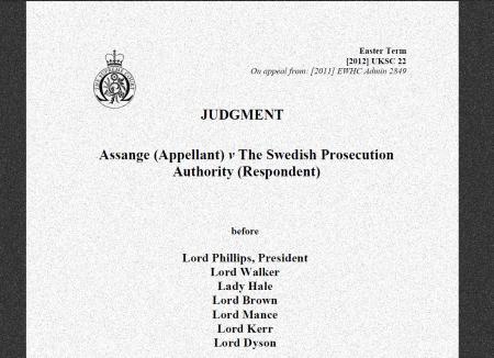 Julian Assange jugement extradition
