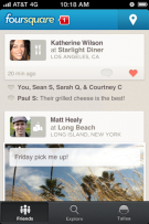 Foursquare Android ios 5.0 application