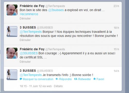 bug informatique 3suisses.fr