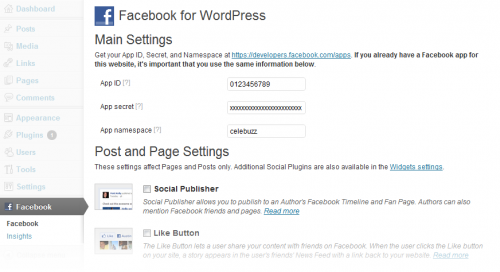 Facebook integration plugin wordpress