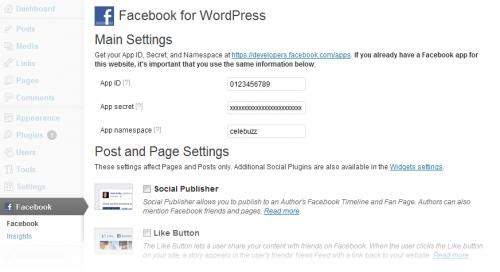 Facebook integration plugin wordpress