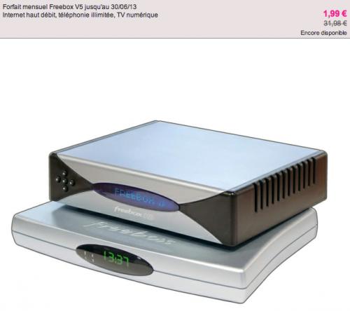 vente priv e freebox v5 1 99 par mois sfr volution 14 90 9 90. Black Bedroom Furniture Sets. Home Design Ideas