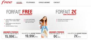 Free mobile appels illimites page accueil