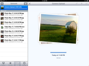 dropbox ios upload photos