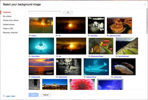 gmail photo personnalises arriere plan