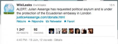 tweet assange wikileaks
