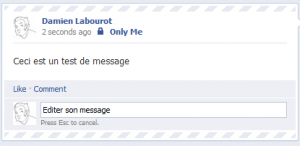 Facebook Edition de message