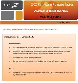 firmware 1.5 ssd ocz