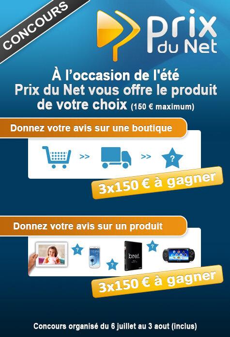 concours prix du net ete 2012
